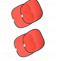 Car window Sunshade/Curtain for all Car Models Red Color